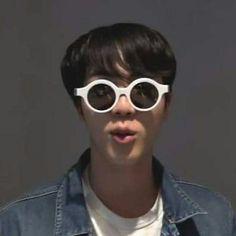 Buy 'Jin shook meme' by BtsArmyStuff as a Sticker. Jin shook meme is here bi&ches! enjoy your meming hehe Taekook, Bts Meme Faces, Funny Faces, Bts Jin, Bts Taehyung, Yoonmin, Jin Meme, Namjin, Glasses Meme