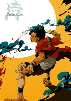 """This is a character Mugen from """"Samurai Champloo"""", which is my new favorite anime=] I hope you like it! Cowboy Bebop, Photomontage, Manga Anime, Anime Art, Inu Yasha, Gamers Anime, Fanart, Japanese Anime Series, Another Anime"""