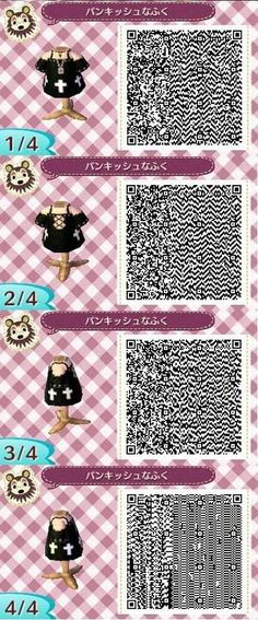 Animal Crossing: New Leaf QR Codes Ichigo Kurosaki Qr Code Animal Crossing, Animal Crossing Qr Codes Clothes, Animal Games, My Animal, Leaf Animals, Motif Acnl, Ac New Leaf, Mundo Geek, Happy Home Designer