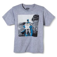 Batmobile Boy's Graphic Tee - Heather Gray