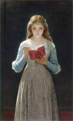Pierre-Auguste Cot Young Maiden Reading a Book art painting for sale; Shop your favorite Pierre-Auguste Cot Young Maiden Reading a Book painting on canvas or frame at discount price. Reading Art, Woman Reading, Reading People, Children Reading, Reading Books, Pierre Auguste Cot, French Artists, Beautiful Paintings, Oeuvre D'art