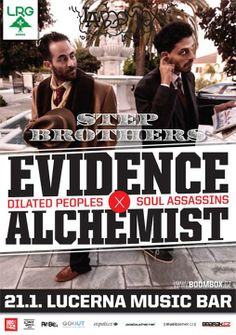 Step Brothers - Evidence (Dilated Peoples) & The Alchemist (Soul Assassins) (USA) - Lucerna Music Bar