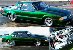 Larry Wood Twin Turbo Fox Body Ford Mustang 2013 Mustang, Fox Body Mustang, Ford Mustang Coupe, Mustang Cars, Turbo Car, Twin Turbo, Electric Car Charger, Ford Fairlane, Pony Car