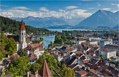 "(Bern - Switzerland) ""Picture Postcards from Thun"" by Jan Geerk, via 500px."
