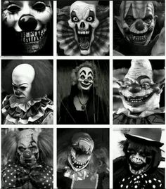 Dark Clowns, how can they be soooo creepy. #clown #creepy #scare