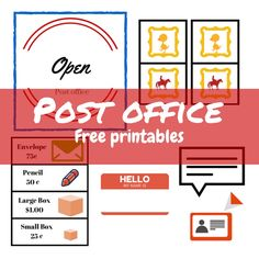 Download and print for free P is for post office imaginative play printables - great for classroom play station or for home!
