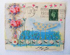 original artwork on 1938 envelope by hens teeth, via Flickr