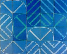 Azulejo, Portugal Handmade tiles can be colour coordinated and customized re. shape, texture, pattern, etc. by ceramic design studios Textiles, Textile Patterns, Print Patterns, Surface Pattern, Pattern Art, Pattern Design, Mosaic Glass, Mosaic Tiles, Monet