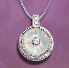 Sheer and beautiful in white: Galatea Illusia pendant, Style A12.