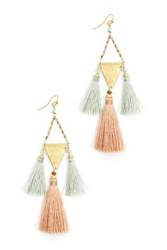 South Moon Under Three Tassel Drop Earrings | South Moon Under