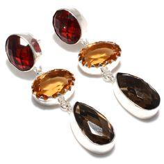 Stud Earrings – Garnet - Earrings - 925 Silver Handmade Jewelry  – a unique product by 925silvercollection on DaWanda