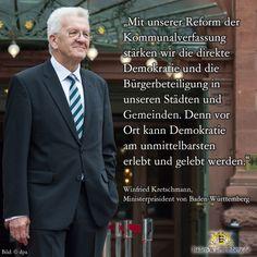 Ministerpräsident Winfried Kretschmann zu direkter Demokratie in den Kommunen.