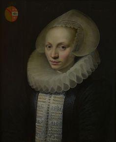 Jan Anthonisz. van Ravesteyn, Portret van Digna de Both (1587-1620), echtgenote van Francois van der Burch, Dordrechts Museum