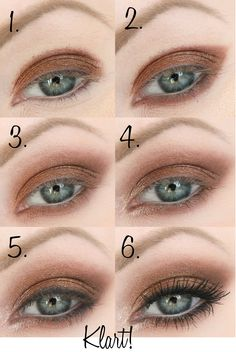 smokey eyes guide, green eyes, festive make up in brown and gold - Diy Makeup Simple Eye Makeup, Makeup For Green Eyes, Blue Makeup, Eye Makeup Tips, Smokey Eye Makeup, Eyeshadow Makeup, Makeup Cosmetics, Beauty Makeup, Eyeliner