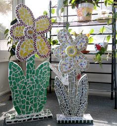 Just one of my mosaic art forms. To see more visit:  http://www.robbiscrackedupmosaics.com