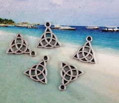 TRIQUETRA Charms Lot 6 Charms   Made Popular From The TV Show CHARMED.. $2.00, via Etsy.