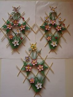 Quilled Floral Design - by: Unknown Artist