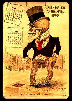 Antikamina Pharmacy Calendar, 1900 different angle on marketing, I'd say.