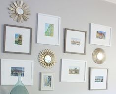 Furnish your family room with affordable artwork from your travels. Via @The Inspired Room for MyColortopia.com