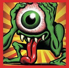 eyegore by jim phillips sr. Cartoon Drawings, Cartoon Art, Art Drawings, Rat Fink, Graffiti Drawing, Graffiti Art, Arte Horror, Horror Art, Ed Roth Art