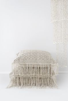 Losari Home & Woman - Kalyana & Indrani Macrame Cushions and Bohemian Romance: Three-tier Cowrie Pendant losari.com.au #losarihome #losarihomeandwoman #losari #soulmoment #whitehome #whiteonwhite #texture #interiordesign #styling #home #boho #bohohome #tribalhome #tribal #homesweethome #soulmoment #onlineshopping #handmade #ourpeople #treasures #macrame #floorcushions #macramecushions #comfort #shells #chandelier #pendant #hangingdecor #decoration #windchime