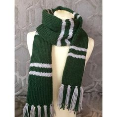 Slytherin scarf, Philidelphia Eagles scarf, Hogwarts scarf, Harry... ($35) ❤ liked on Polyvore featuring accessories, scarves, holiday scarves, circle scarf, circle scarves, infinity scarf and tube scarves