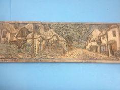 Antique-Fireplace-Tile-Picture-Scene-1920s-Claycraft-Batchelder-Catalina-Era