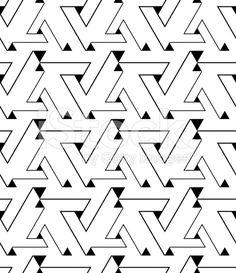 Geometric contrast maze abstract seamless pattern, elegant royalty-free stock vector art