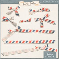 STRIPEY RIBBONS 6 BY #LOUCEECREATIONS On Sale now, exclusively at #SugarHillCo 8 ribbons and bows for your designing needs. *no credit required* 50% off through 7/3