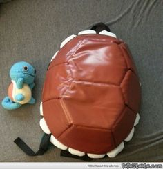 Painted a TMNT back pack for Squirtle Power