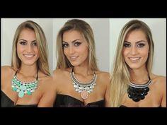 Brincos e Maxi Colares By Boutique Rosa Pink - YouTube