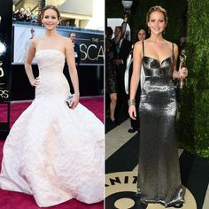 Jennifer Lawrence Goes From Elegant to All-Out Sexy at the Oscars