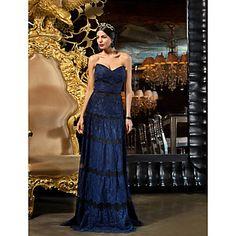 Vaina / columna vestido de noche del cordón de la Piso-longitud Sweetheart (1241478) – MXN $ 2,127.48