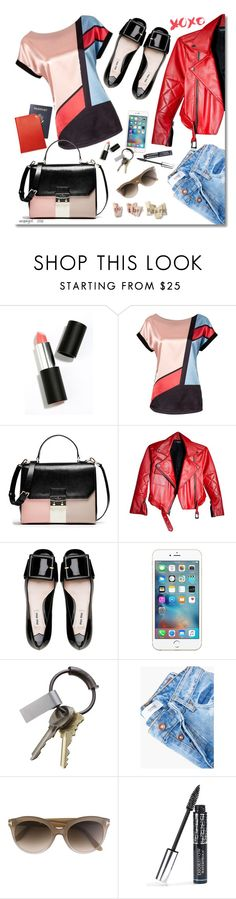 """xoxo"" by vespagirl ❤ liked on Polyvore featuring Sigma Beauty, Miu Miu, CB2, MANGO, Tom Ford, Christian Dior and colorblock"