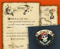 Pirate Party Kit including cool eye patches, pirate hat, treasure chest, & party invites all for free!