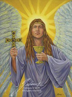 Archangel Zadkiel Archangel zadkiel oil on Types Of Angels, Archangel Zadkiel, Angels Beauty, I Believe In Angels, Angel Heart, Biblical Art, Black Angels, Faeries, Beautiful Creatures