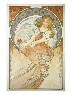 The Arts: La Peinture Lámina giclée de primera calidad por Alphonse Mucha en AllPosters.es