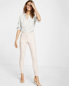 low rise editor ankle pant