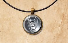 Beverage jewelry Can of Soda pendant Drink by SleepyCatPendants