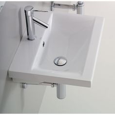 Althea's Clever one hole washbasin is a porcelain bathroom sink that compliments a contemporary style master bathroom. Manufactured in Italy by Althea, this self rimming or wall mounted porcelain sink is a high quality solution for your trendy person Drop In Bathroom Sinks, Ideal Bathrooms, Steam Showers Bathroom, Bathroom Vanities, Master Bathrooms, Bamboo Bathroom, White Bathrooms, Marble Bathrooms, Countertop Covers