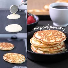 Healthy Recipes his healthy pancake recipe is going to become a family favorite, whether you're on Weight Watchers or not. Each fluffy pancake has just one SmartPoint—and no banana! Weight Watcher Taco Soup, Weight Watchers Pancakes, Weight Watchers Meal Plans, Weight Watchers Breakfast, Weight Watcher Dinners, Weight Watchers Desserts, Weight Watcher Points, Weight Watcher Recipes, Weight Watchers Vegetarian