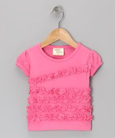 Take a look at this Pink Ruffle Tee - Toddler & Girls by Cheeky Smyle on #zulily today!