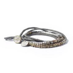 Rubia.nu Webshop - Noosa Nivkh amulet bracelet grey