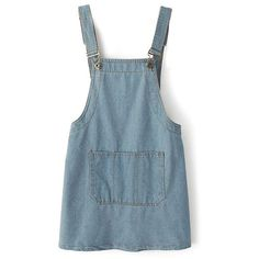 Chicnova Fashion Denim Overall Dress (69 TND) ❤ liked on Polyvore featuring dresses, overalls, skirts and bottoms