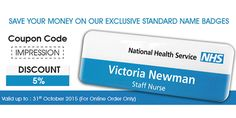 We Offer 5% Special Discount On Our Standard Name Badge