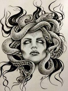 Резултат с изображение за medusa drawing