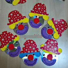 cd_clown_craft_idea (2)  |   Crafts and Worksheets for Preschool,Toddler and Kindergarten
