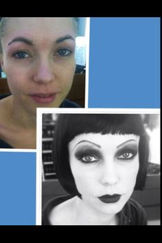 Goth Makeup Before/After
