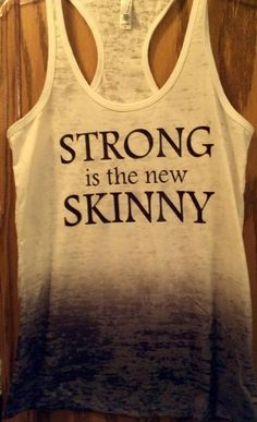 Strong Is The New Skinny Ombre black tank by Wickeditch on Etsy, $23.00
