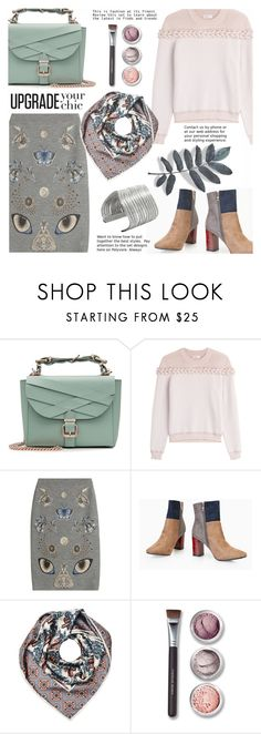 """Best day"" by gabrilungu ❤ liked on Polyvore featuring Marina Hoermanseder, Sonia Rykiel, Alexander McQueen, Burberry and Bare Escentuals"